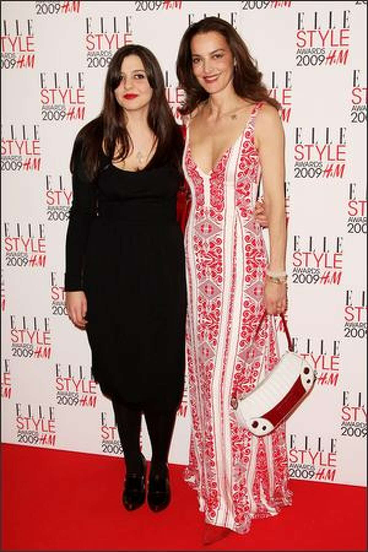 (L-R) Paloma Bailey and Catherine Bailey attend The Elle Style Awards 2009 held at Big Sky Studios, Caledonian Road in London, England.