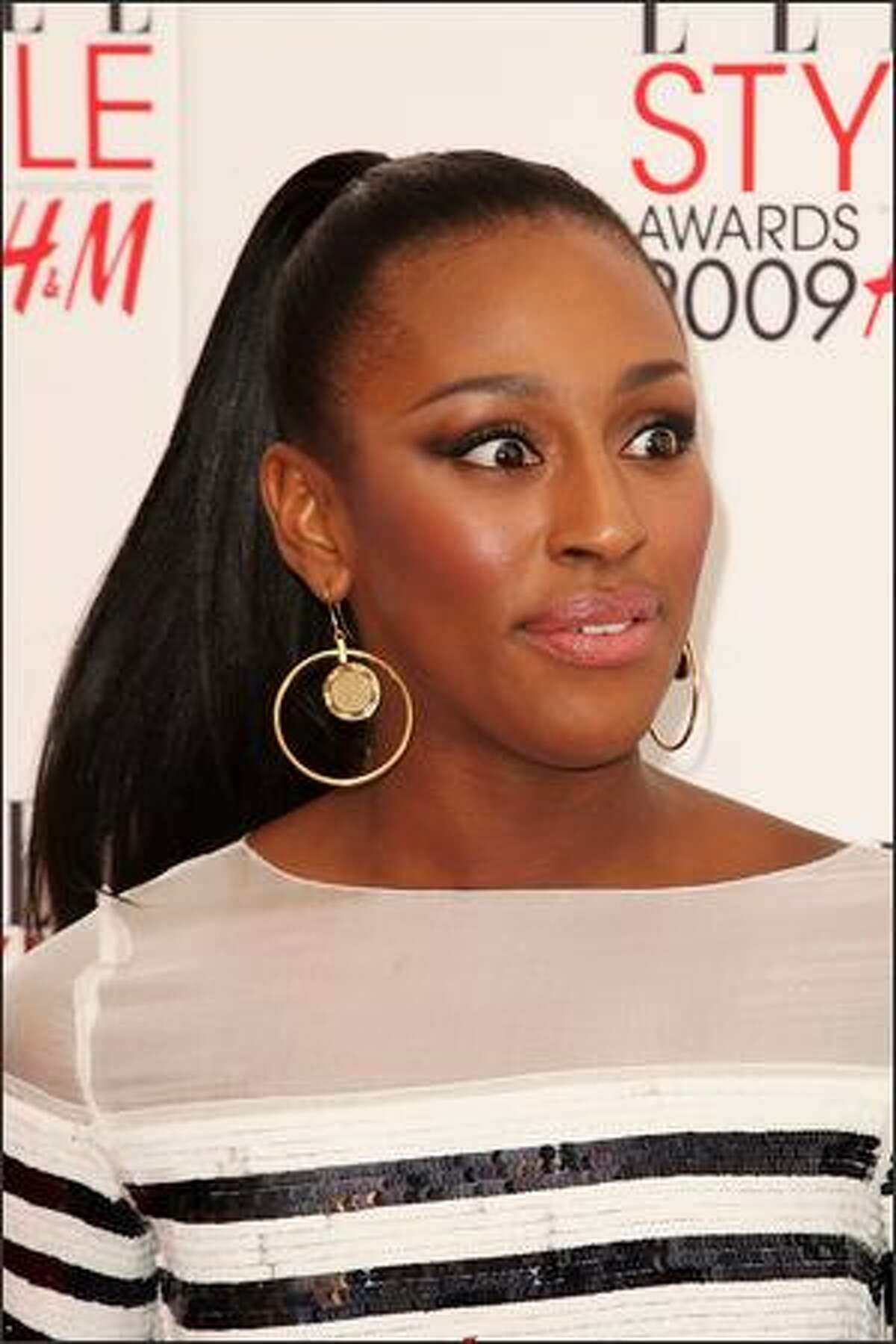 Alexandra Burke attends the Elle Style Awards 2009 held at Big Sky Studios, Caledonian Road in London, England.