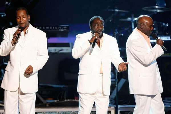 (L-R) Singers Eric Grant, Walter Williams and Eddie Levert of the O'Jays perform on stage during the 2009 BET Awards held at the Shrine Auditorium on Sunday in Los Angeles, California.