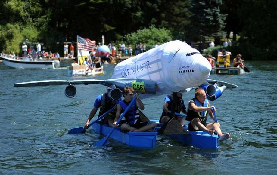 Boeing's boat, the Cream Lifter, sails in Seattle's Seafair Milk Carton Derby on Green Lake Saturday. Photo: Thom Weinstein, Special To Seattlepi.com