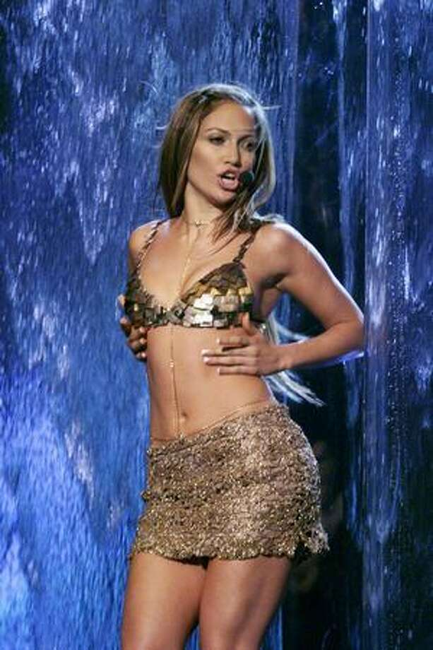 Jennifer Lopez shows off a bikini to perform in. Photo: Getty Images