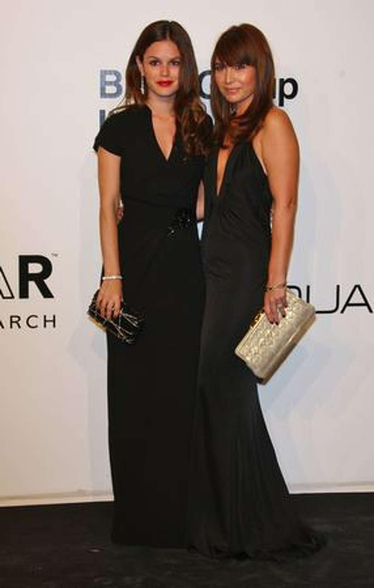 Actress Rachel Bilson and stylist Nicole Chavez arrive.