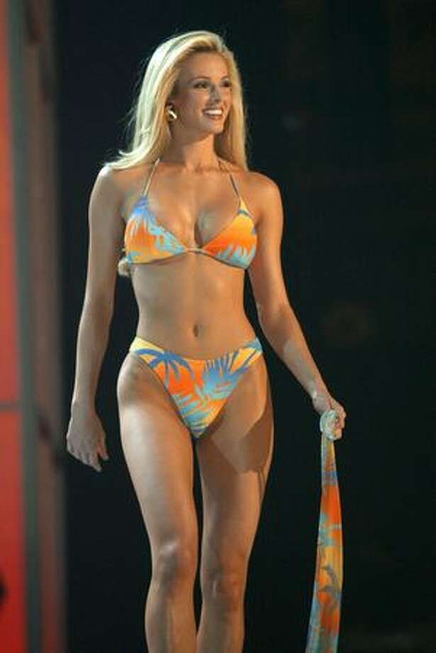 Then there was 2004, the clash of the bikinied titans in Ecuador for the title of Miss Universe. Miss USA Shandi Finnessey of Missouri showed impressive form in her bikini and was the favorite in many eyes to win the tiara before going on to a career of casino openings, Maxim photoshoots and game-show hostessing. Photo: Getty Images