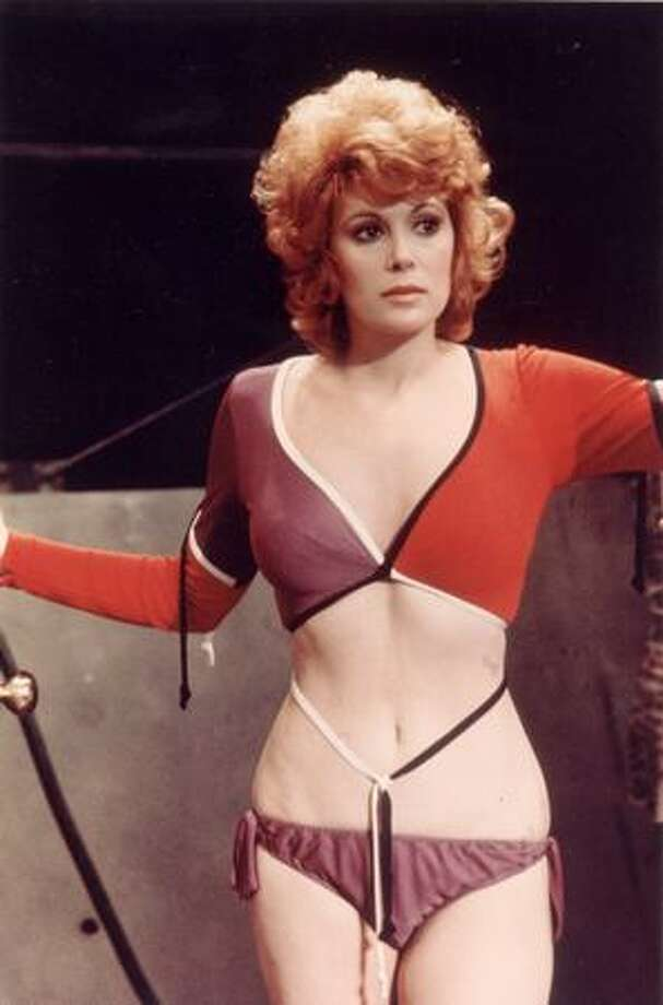 "1971: Actress Jill St. John wears a cutaway outfit in the James Bond film ""Diamonds Are Forever."" Photo: Getty Images"
