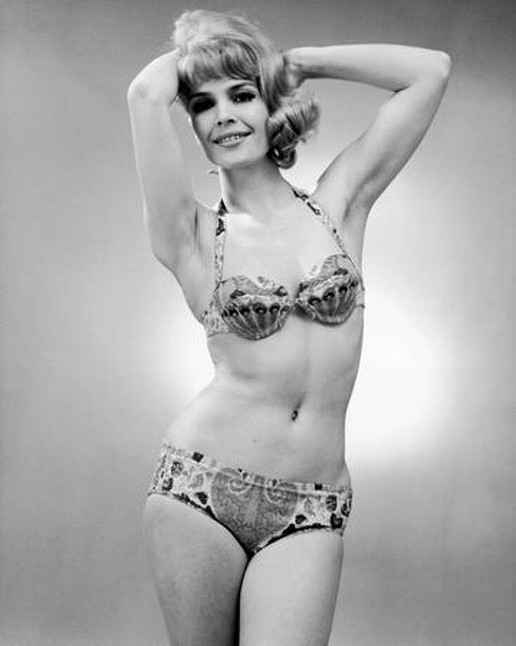Circa 1967: A typical bikini design of the '60s; they seem somewhat quaint and unappealing now. Photo: Getty Images