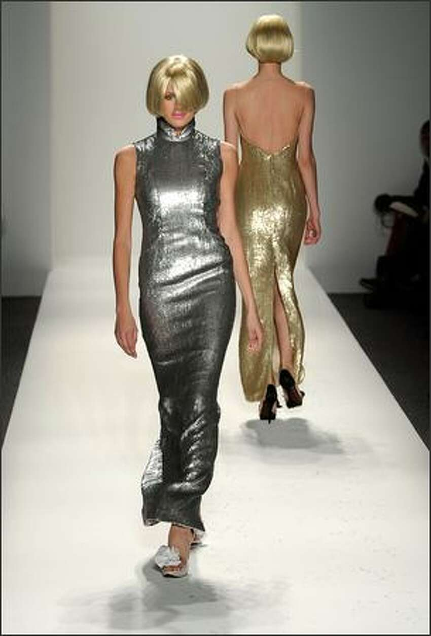 A model presents a creation by Chocheng.