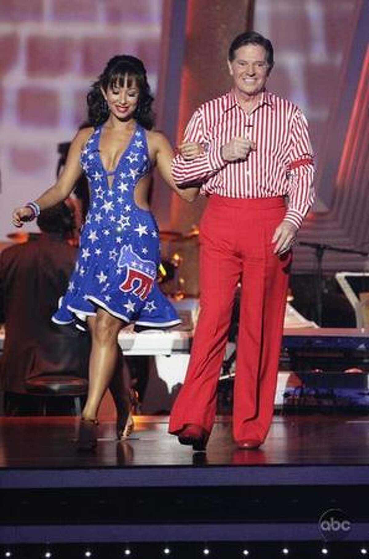 Cheryl Burke and former politician Tom DeLay.
