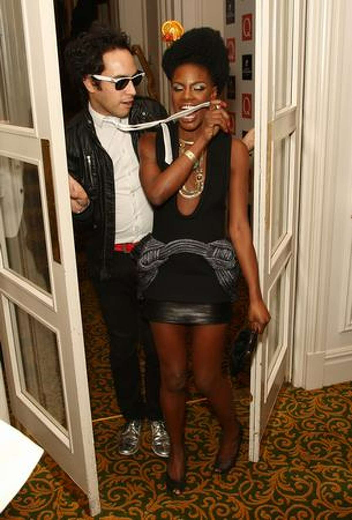 Shingai Shoniwa and Dan Smith of The Noisettes attend the 2009 Q Awards held at the Grosvenor House Hotel in London, England.