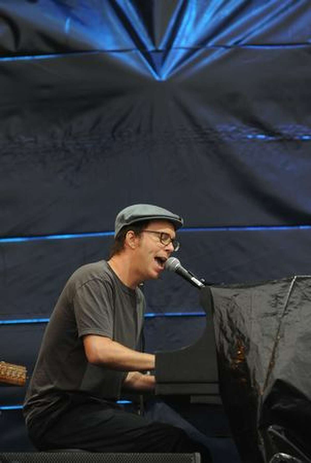 Ben Folds performs during the 2009 Lollapalooza Music Festival at Grant Park on Friday in Chicago, Illinois.