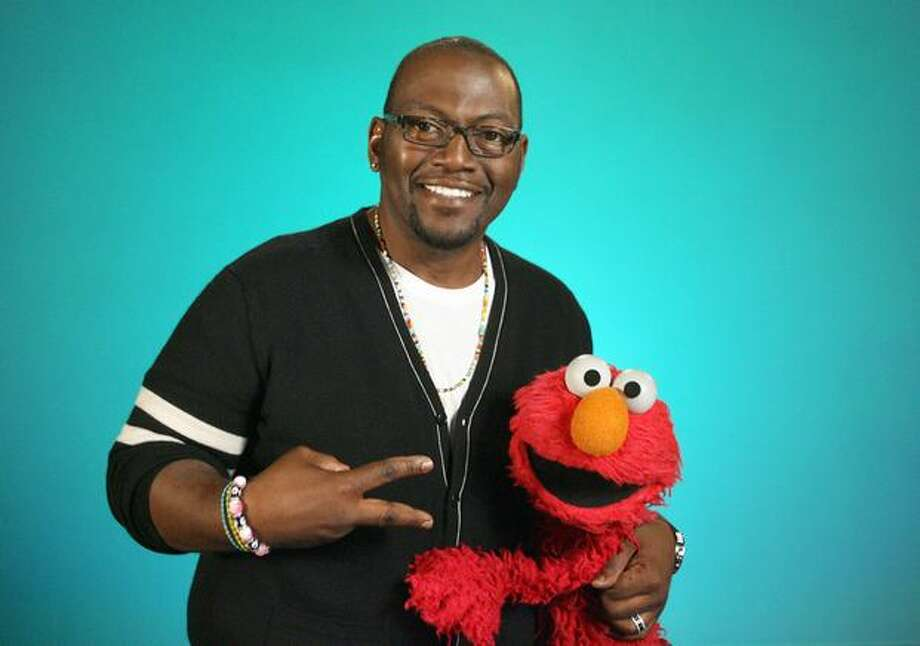 """American Idol"" judge Randy Jackson with Elmo. Photo: PBS"