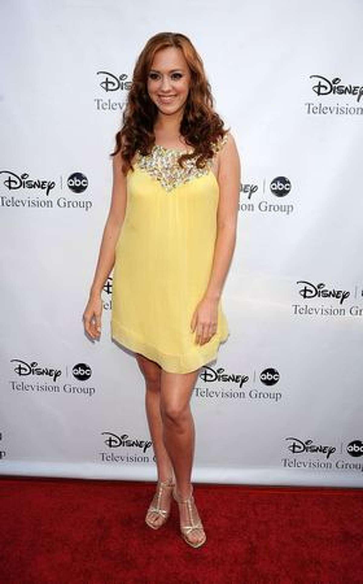 Actress Andrea Bowen arrives at Disney-ABC Television Group Summer Press Tour Party at The Langham Hotel in Pasadena, California.