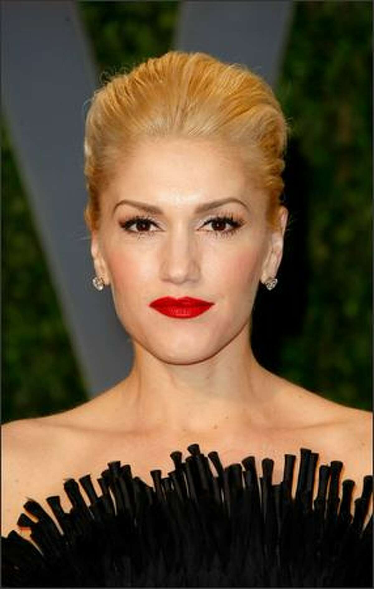 Singer Gwen Stefani arrives at the Vanity Fair Oscar party.