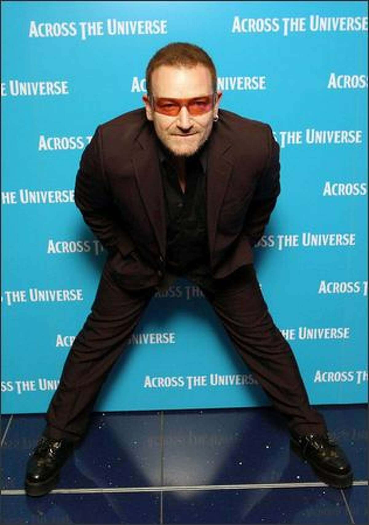U2 through the years U2 singer Bono arrives for the premiere of the film Across The Universe at the Apollo cinema, in cental London on Wednesday Sept. 26 2007. (Associated Press)