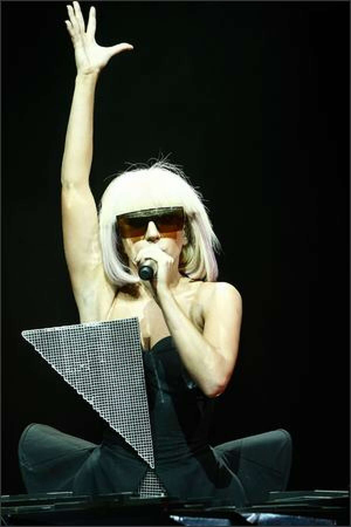 Singer Lady GaGa performs.