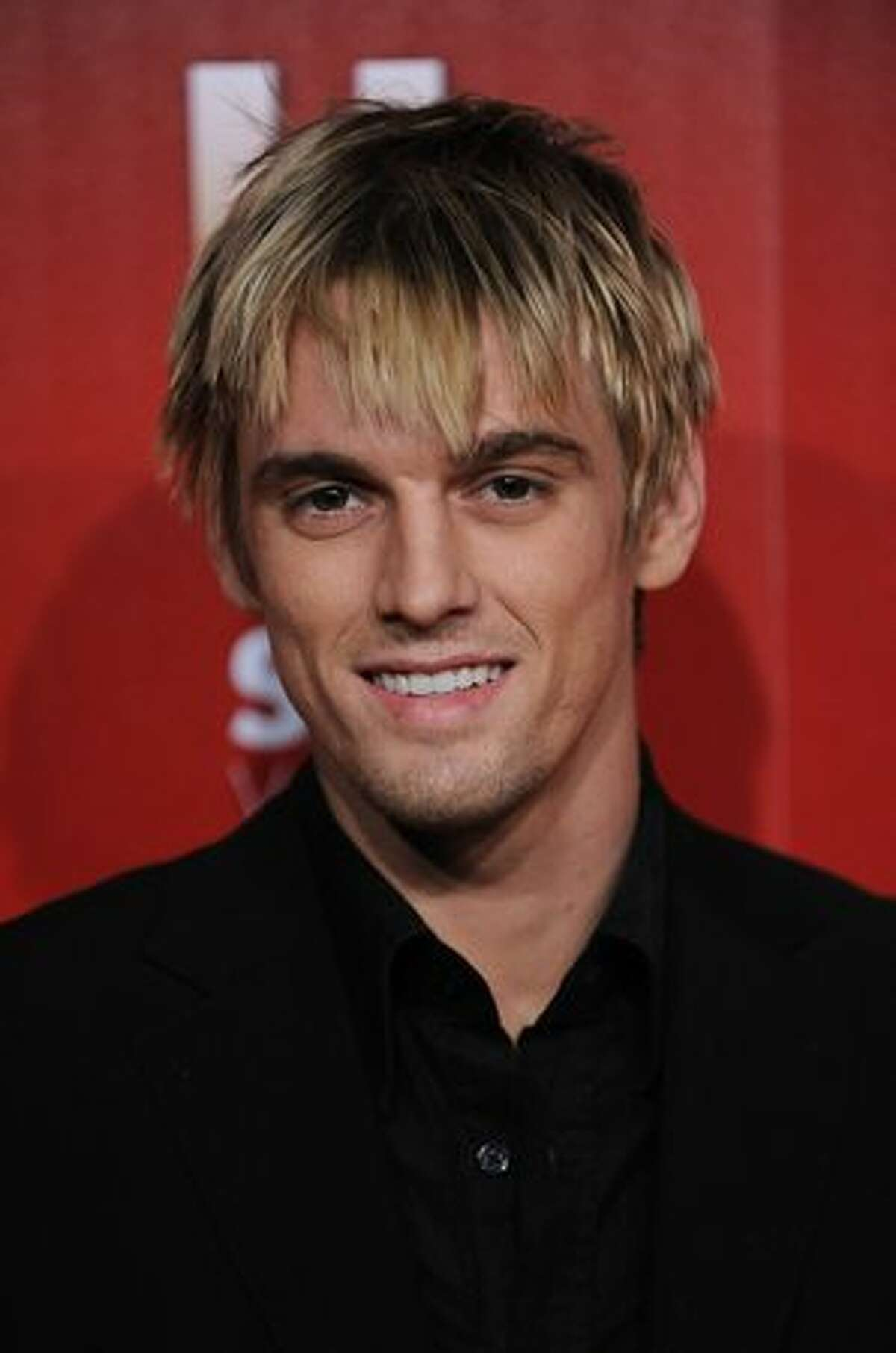 Singer Aaron Carter arrives at the Us Weekly Hot Hollywood Event at Voyeur in Los Angeles, California.