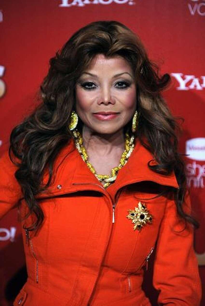 Singer La Toya Jackson arrives at the Us Weekly Hot Hollywood Event at Voyeur in Los Angeles, California.