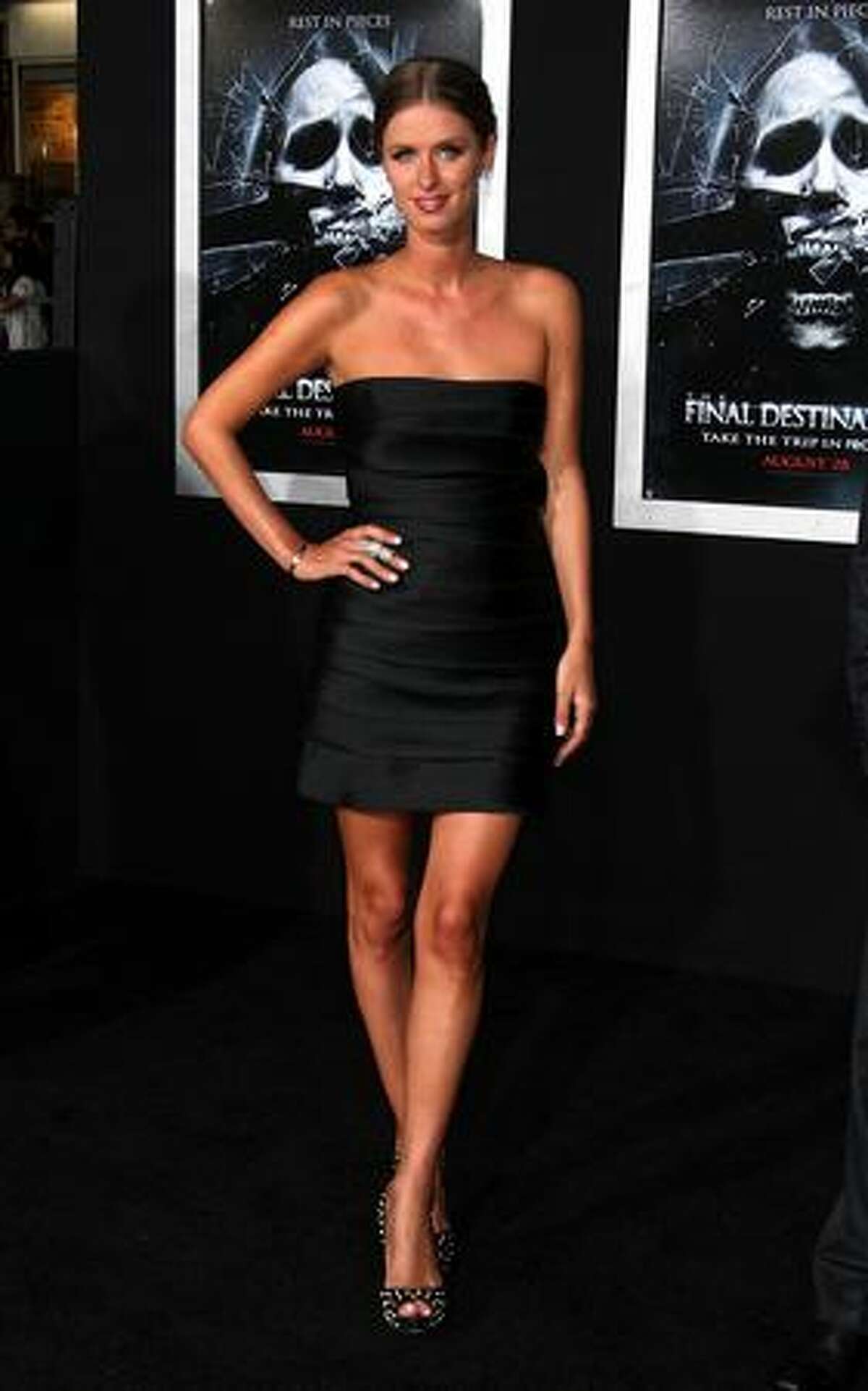 """Nicky Hilton attends """"The Final Destination"""" film premiere at the Mann Village Theatre in Los Angeles, California."""