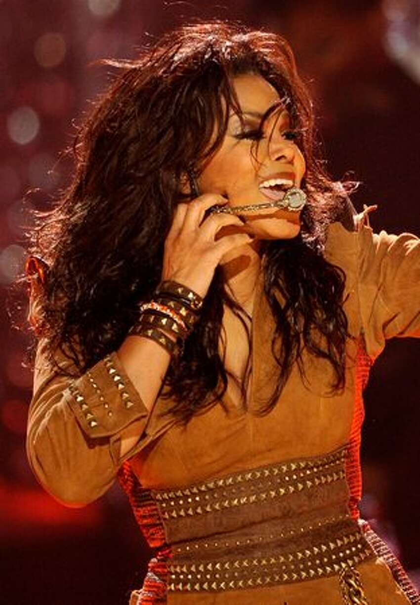 Singer Janet Jackson performs onstage at the 2009 American Music Awards at Nokia Theatre L.A. Live in Los Angeles on Sunday, Nov. 22, 2009.
