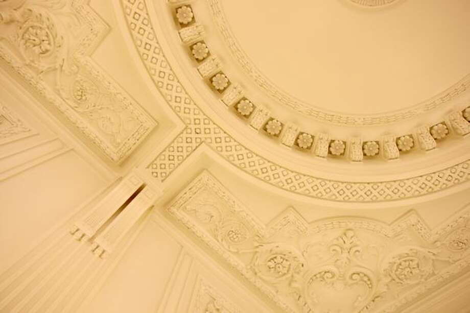Ornate ceilings decorate King Street Station, March 5, 2008. (Mike Kane/seattlepi.com file)