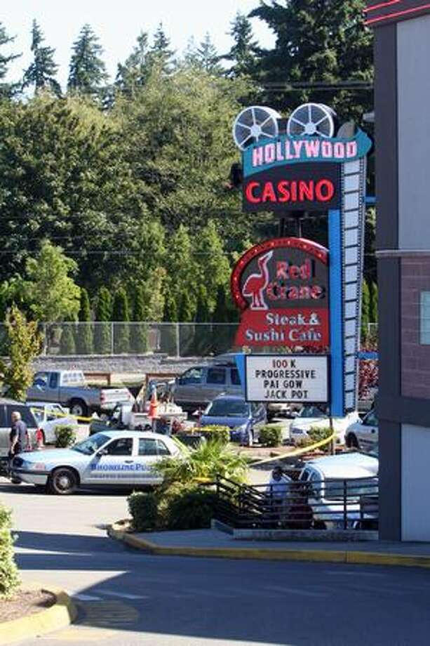 The suspects were followed to the parking lot of the Hollywood Casino in Shoreline after deputies say they robbed a credit union inside a nearby Safeway. Photo: Casey McNerthney, Seattlepi.com