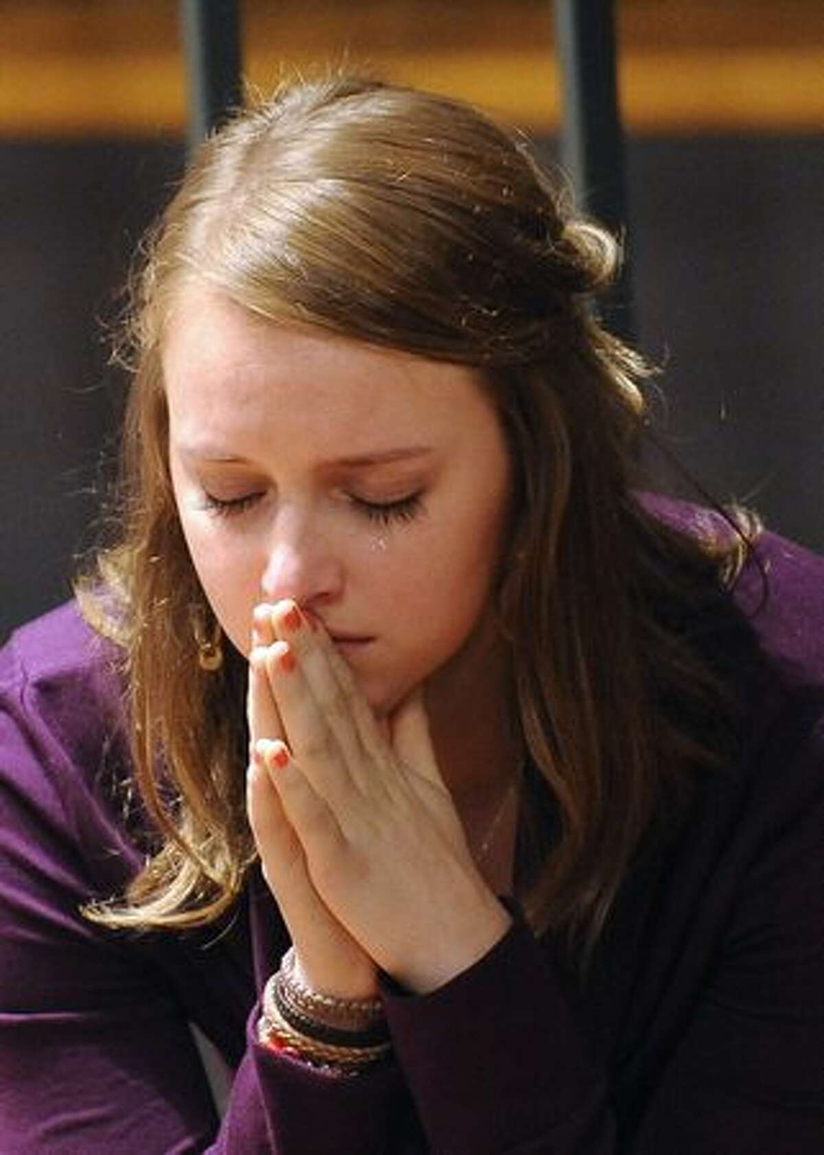 Deanna Knox, the sister of Amanda Knox reacts during the trial. Amanda Knox asked a jury not to put