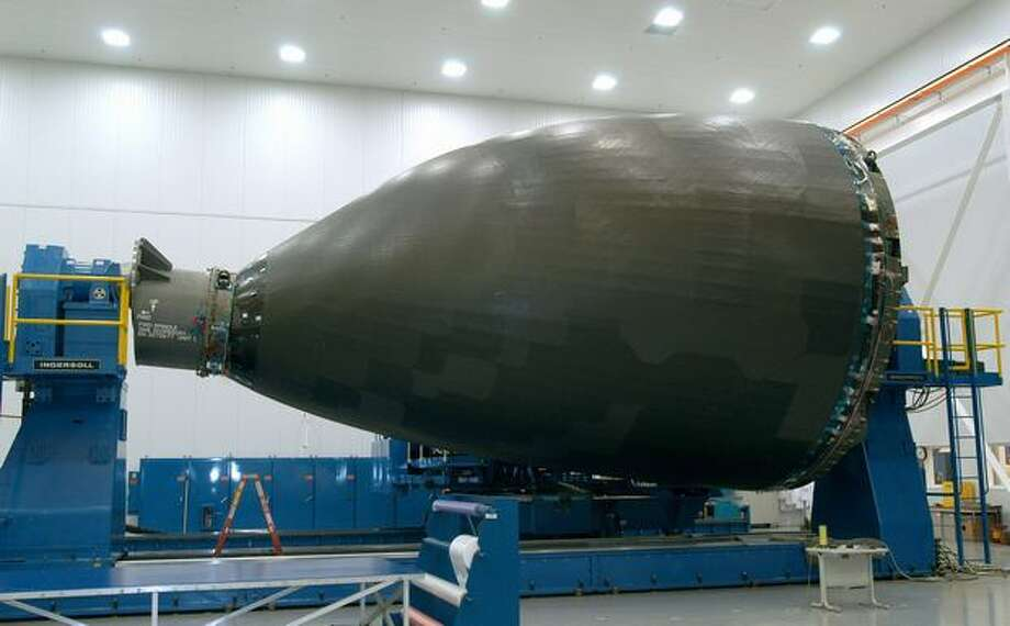 The first 787 Dreamliner nose section completed in Wichita, Kan., in 2005. (Boeing photo)