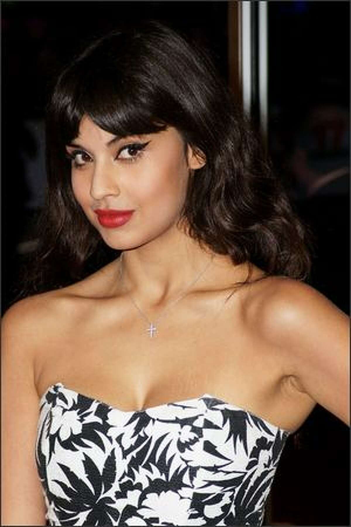 Jameela Jamil attends the UK premiere of