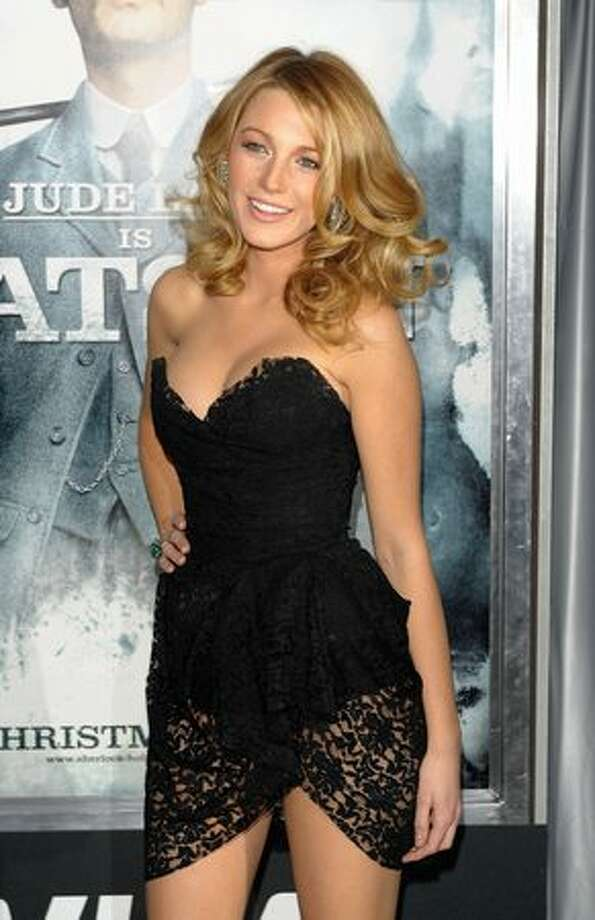 "Actress Blake Lively attends the premiere of ""Sherlock Holmes"" at the Alice Tully Hall, Lincoln Center in New York on Thursday, Dec. 17, 2009. Photo: Getty Images"