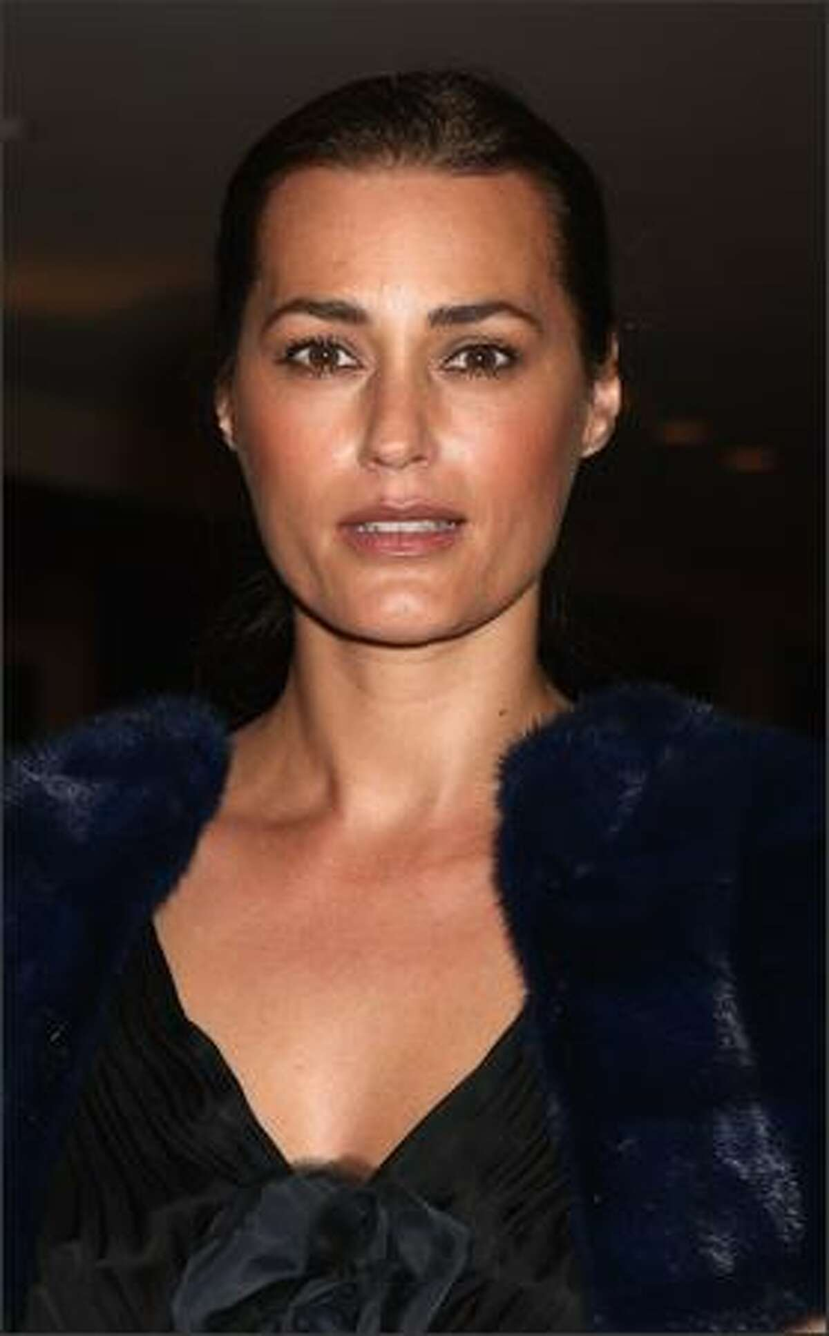 Model Yasmine Le Bon arrives at the Grand Opening of the new One&Only Cape Town resort in Cape Town, South Africa.