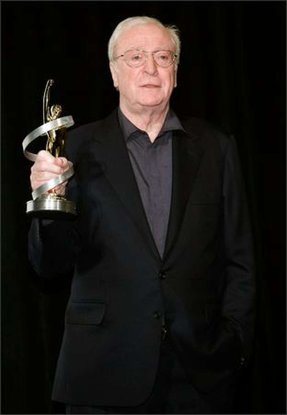 Actor Michael Caine, recipient of the Lifetime Achievement Award, attends the 2009 ShoWest convention final night banquet and awards ceremony.