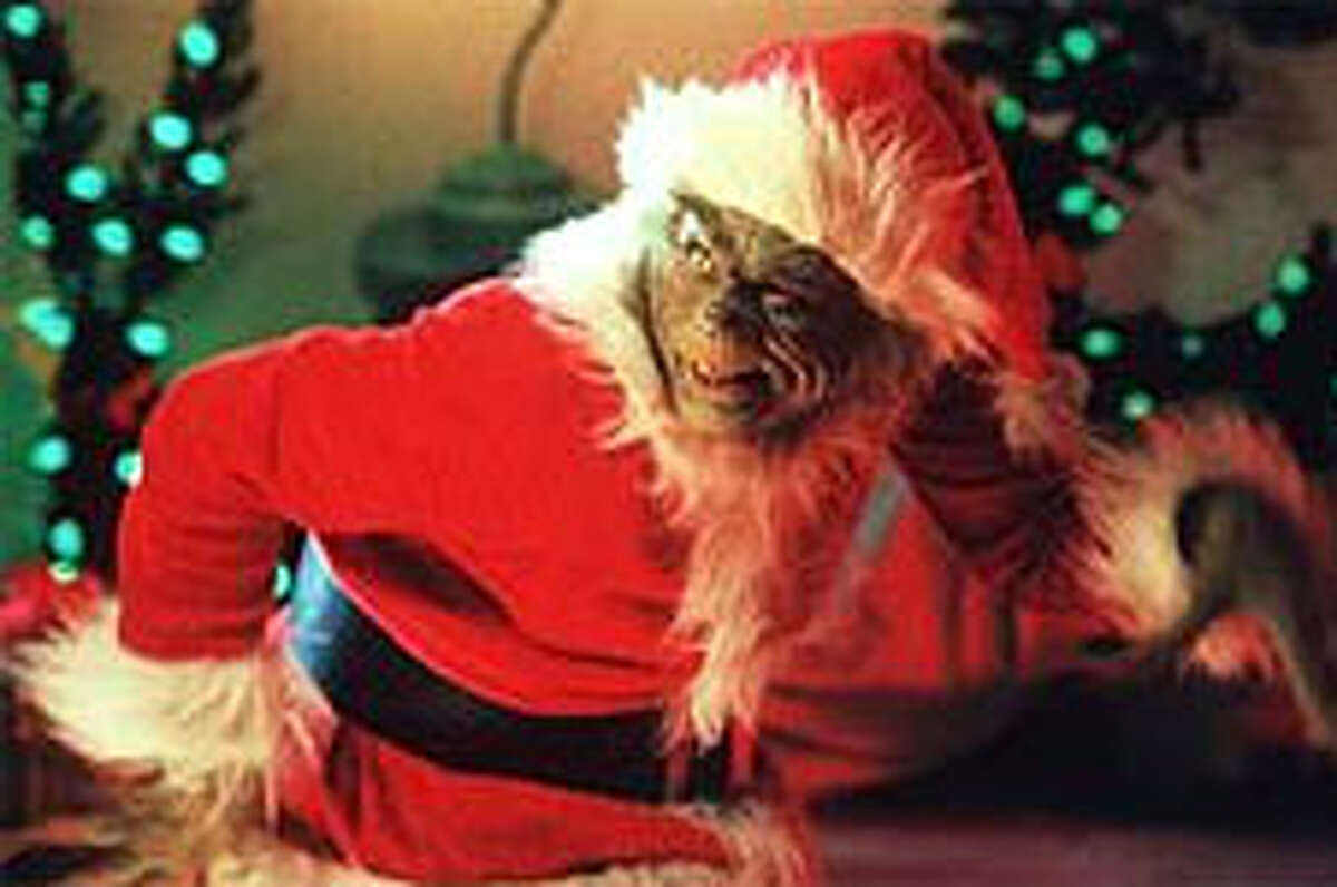 """Jim Carrey as the title character in the movie version of """"How The Grinch Stole Christmas."""""""