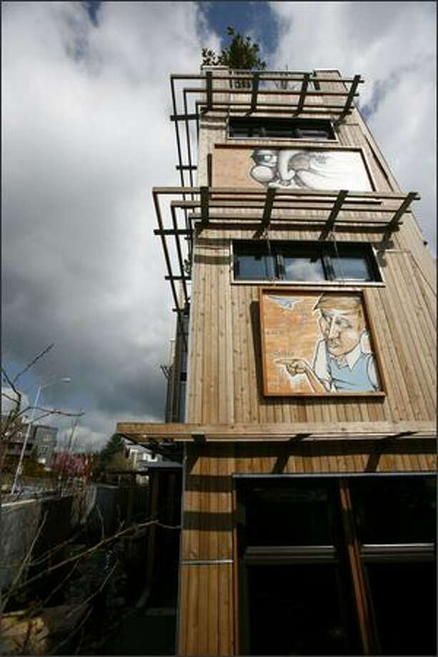 The Footprint at the Bridge townhouses as seen on Friday. Photo: Joshua Trujillo, Seattlepi.com