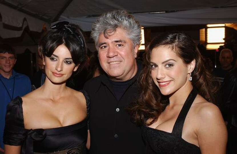 From left, actress Penelope Cruz, director Pedro Almodovar and actress Brittany Murphy attend AFI's