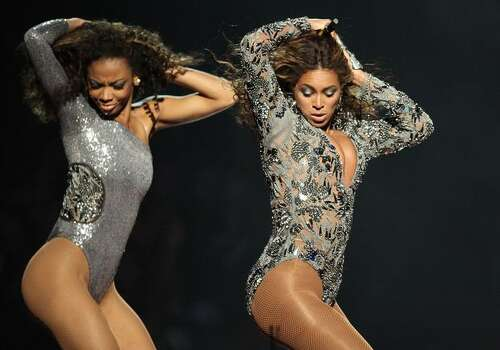 Beyonce (right) performs. Photo: Getty Images