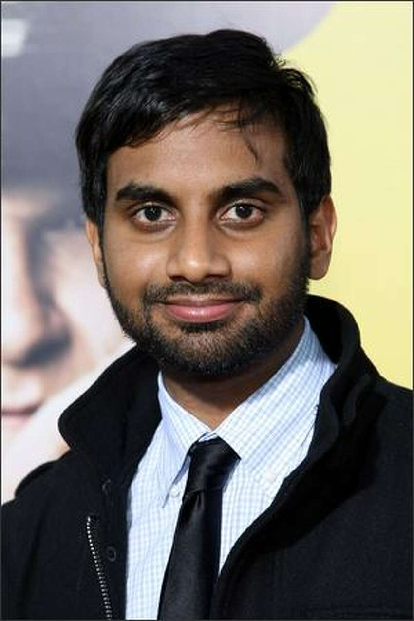 Actor Aziz Ansari arrives for the premiere Of Warner Bros.