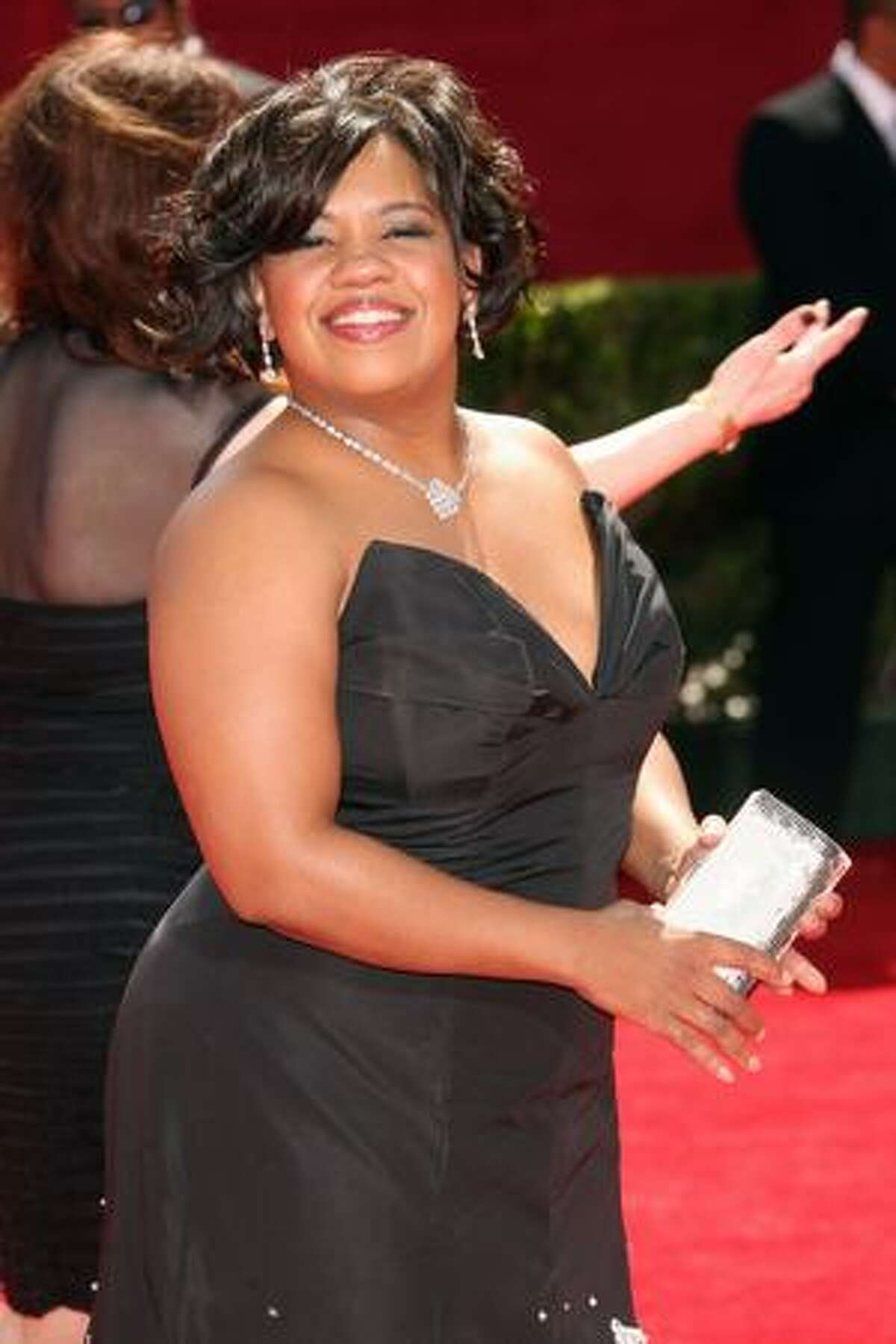 Actress Chandra Wilson arrives at the 61st Primetime Emmy Awards held at the Nokia Theatre on Sunday in Los Angeles, California.