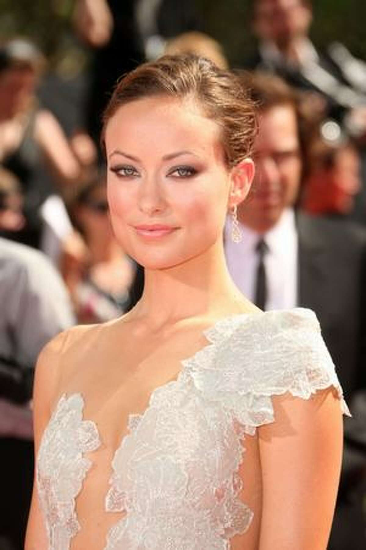 Actress Olivia Wilde arrives at the 61st Primetime Emmy Awards held at the Nokia Theatre on Sunday in Los Angeles, California.