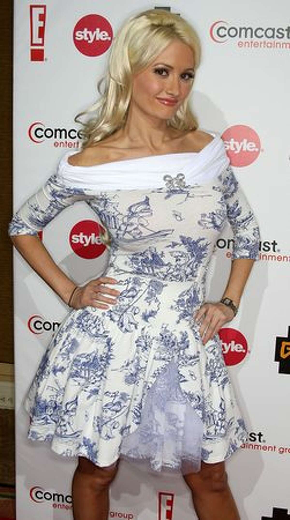 Actress Holly Madison attends the Comcast Entertainment Group's Television Critics Association Press Tour Party at the Langham Hotel on January 15, 2010, in Pasadena, California.
