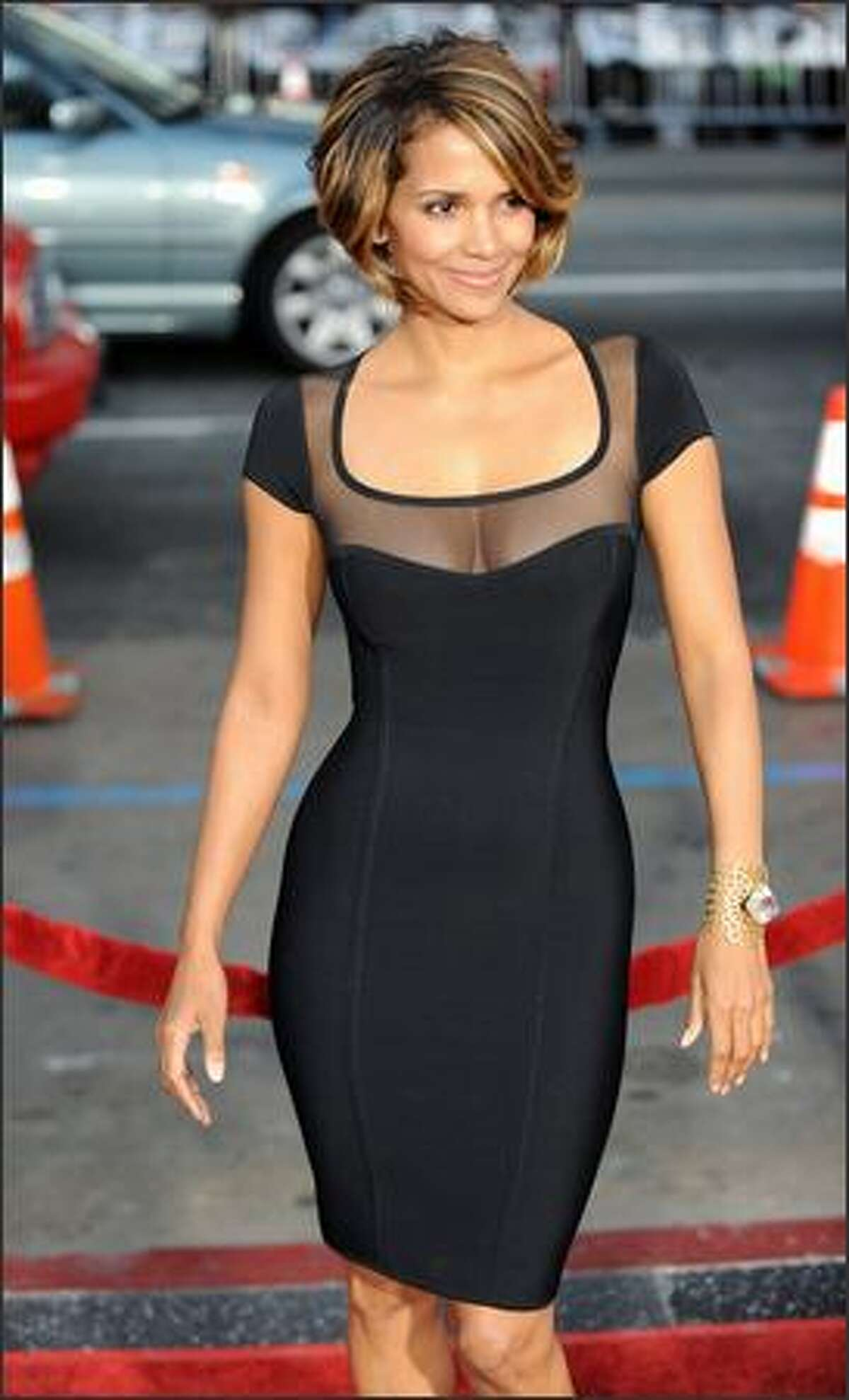 Actress Halle Berry arrives for the Los Angeles industry screening of