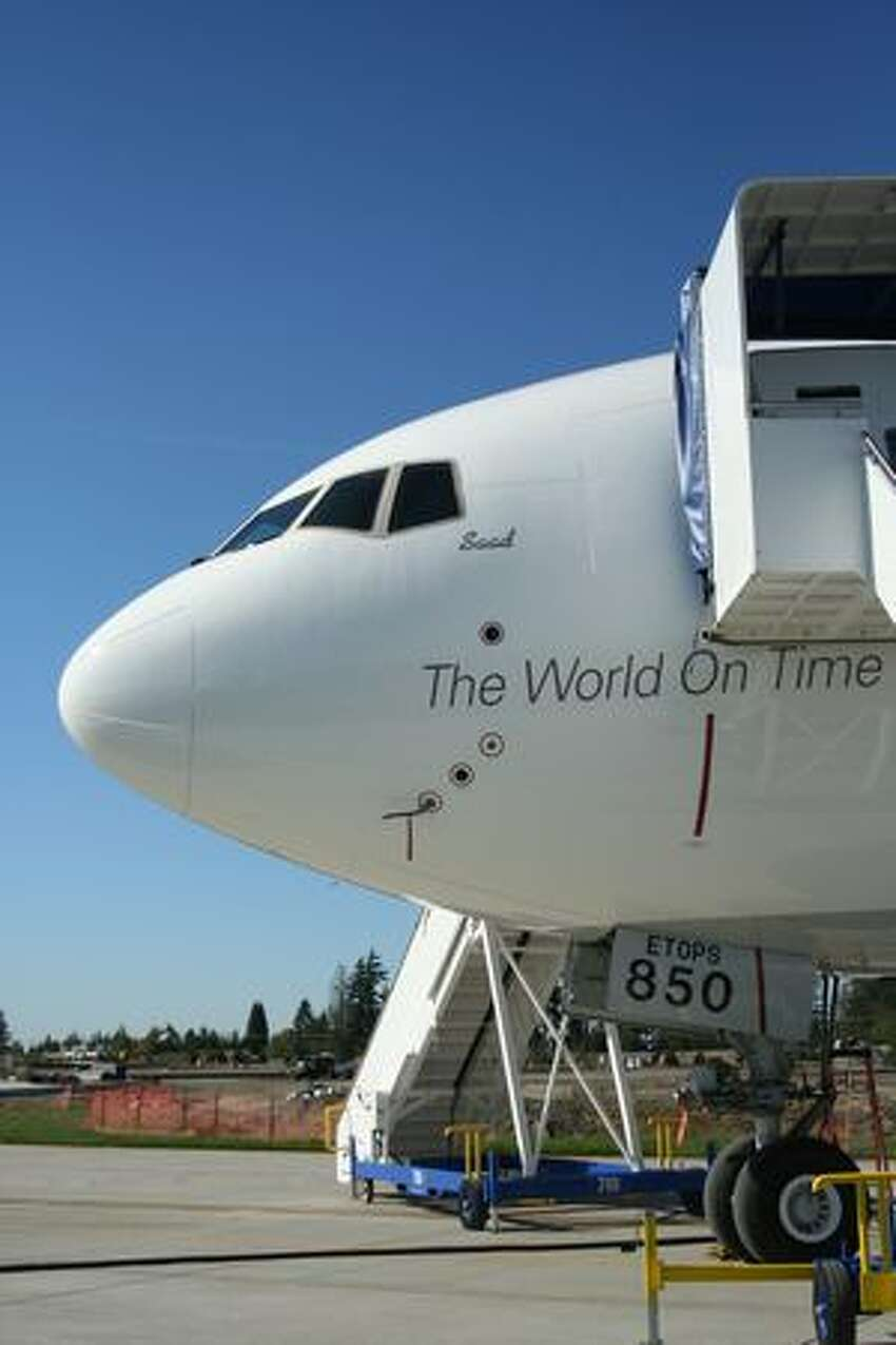 FedEx Express' first Boeing 777 Freighter. Boeing delivered the freighter on Sept. 22, 2009.