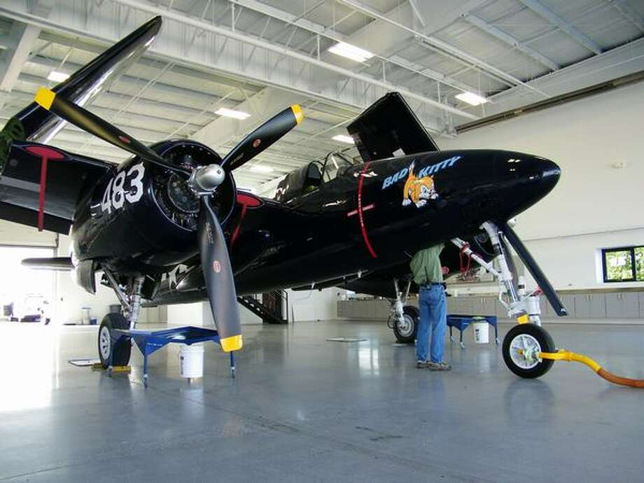 A Grumman F7F Tigercat on display at the Historic Flight Foundation, at Everett's Paine Field. Photo: Aubrey Cohen, Seattlepi.com