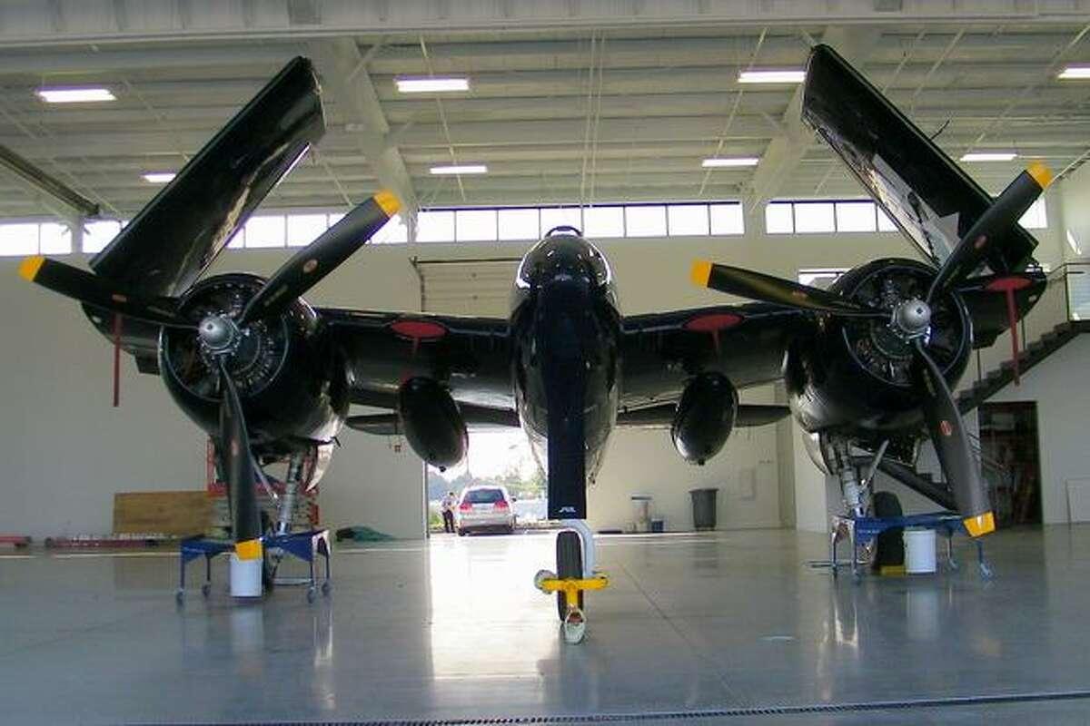 A Grumman F7F Tigercat on display at the Historic Flight Foundation, at Everett's Paine Field.