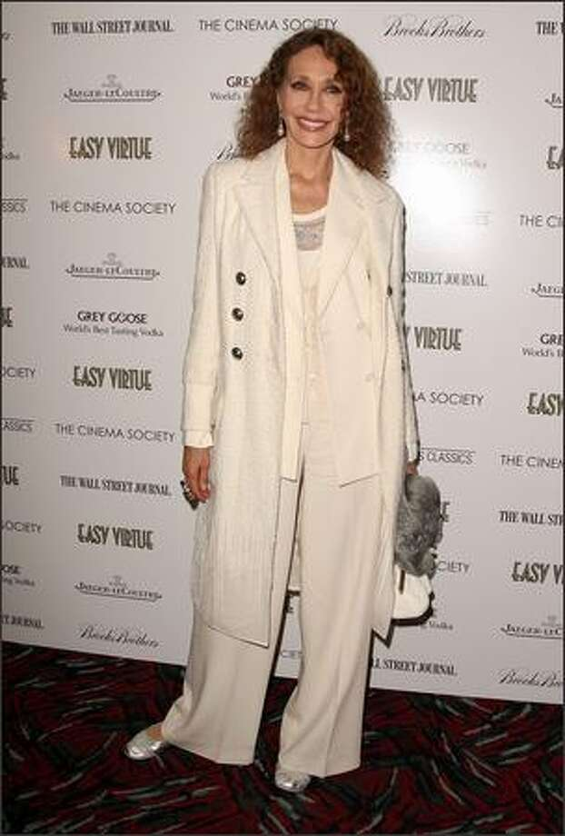 "Marisa Berenson attends a screening of ""Easy Virtue"" hosted by The Cinema Society and The Wall Street Journal with Jaeger-Lecoultre and Brooks Brothers at the AMC Loews 19th Street East in New York City. Photo: Getty Images"