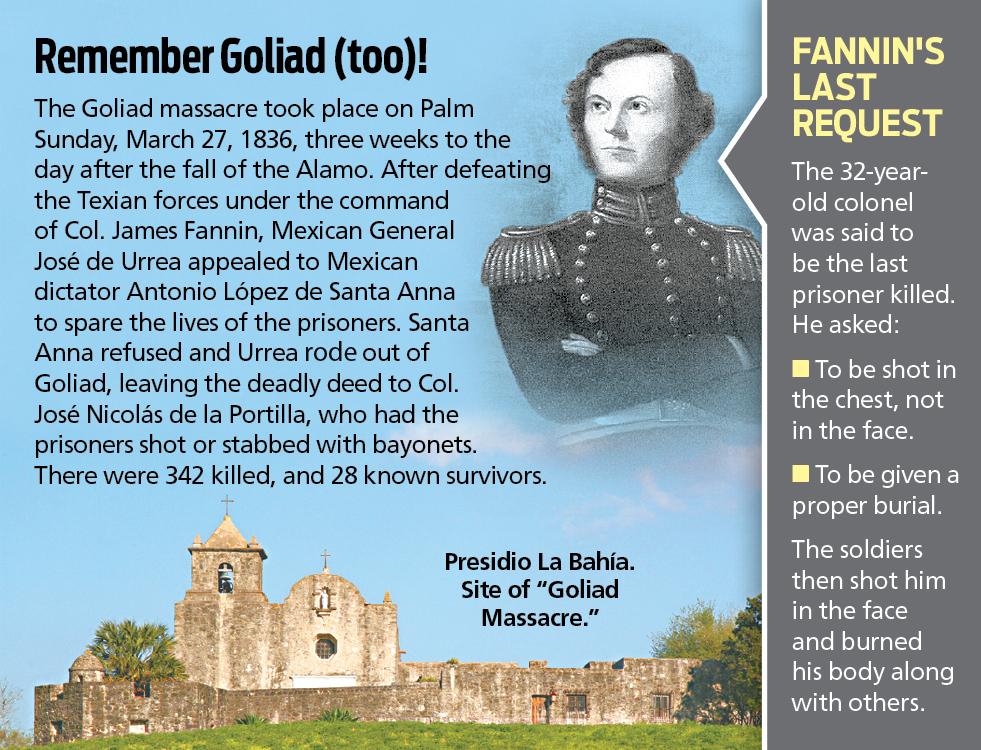 Remembering The Goliad Massacre San Antonio Express News