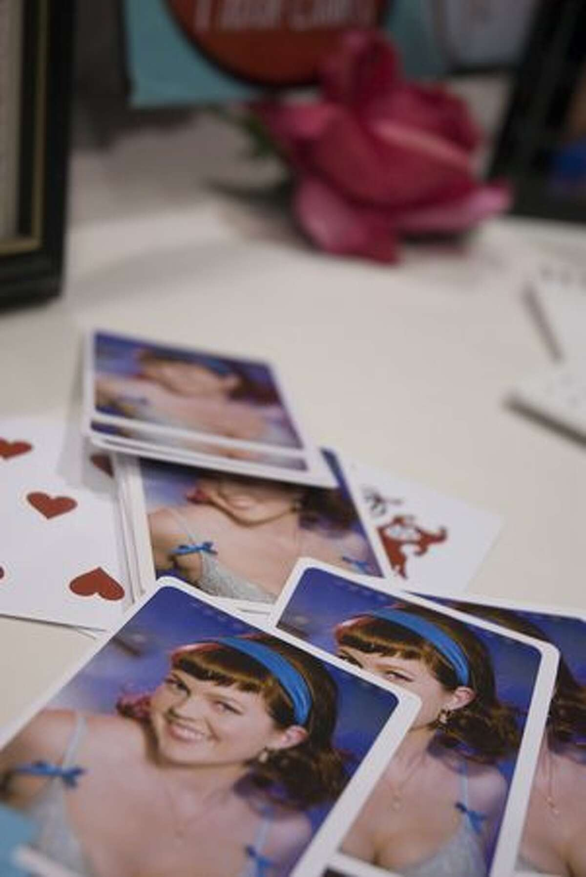 One thing brides can do with the sexy pictures they get from Old School Pin Ups: print playing cards. The 20th annual Seattle Wedding Show took place at the Washington State Convention and Trade Center Jan. 16-17. Read about the 5 coolest booths at the show here. (Rebecca Livingston/seattlepi.com)