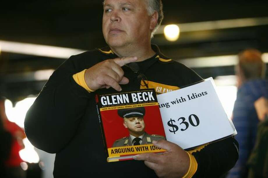 Glenn Beck's book is sold during the Evergreen Freedom Foundation's Take the Field with Glenn Beck event at Safeco Field. Photo: Joshua Trujillo, Seattlepi.com