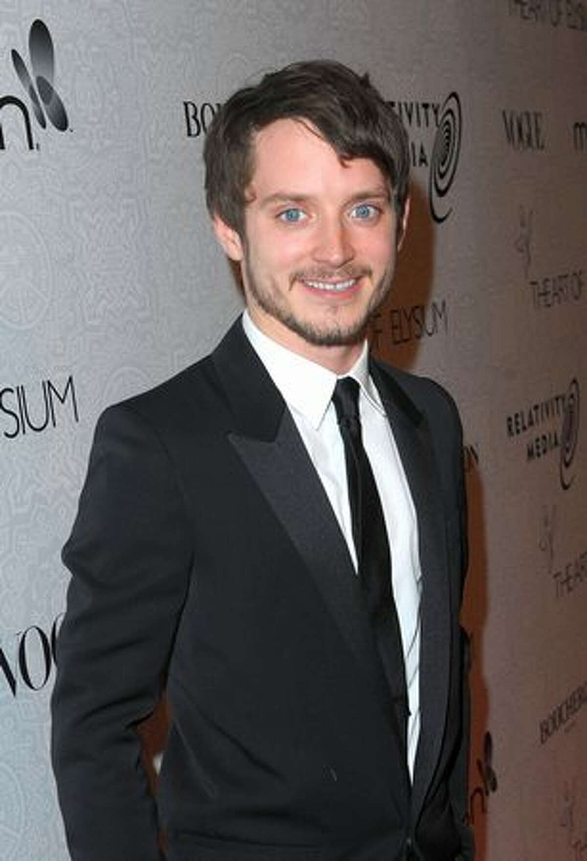 Actor Elijah Wood arrives at The Art of Elysium's third annual Black Tie Charity Gala, named