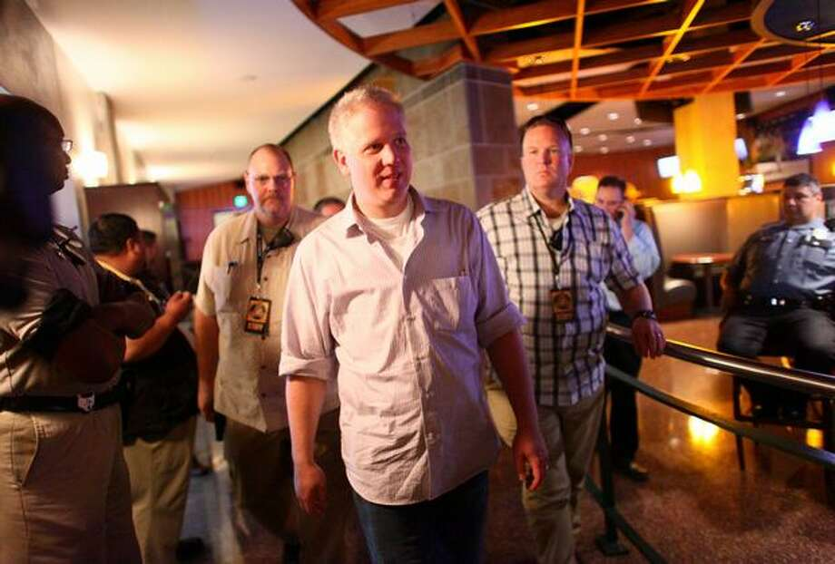 Glenn Beck walks the halls of Safeco Field to a book signing during Evergreen Freedom Foundation's Take the Field with Glenn Beck event at Safeco Field. Photo: Joshua Trujillo, Seattlepi.com