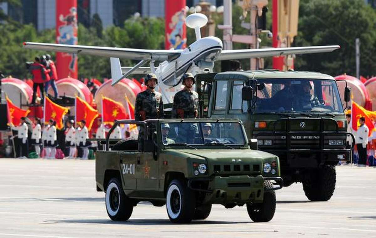 China's military shows off their latest advance technologies during the National Day parade in Beijing on October 1, 2009. China celebrated 60 years of communist rule with a military parade and lavish ceremonies on Beijing's Tiananmen Square showcasing the nation's revival as a global power.