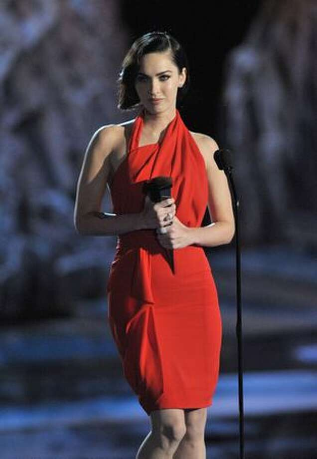 Actress Megan Fox accepts the Best Sci-Fi Actress award onstage. Photo: Getty Images